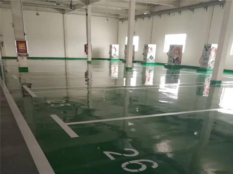 新能源公交车停车场 环氧平涂地坪