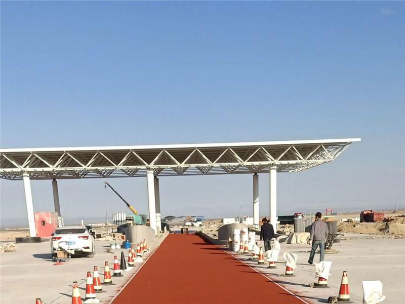 伊吾县 G7高速公路收费站 ETC车道彩色防滑路面