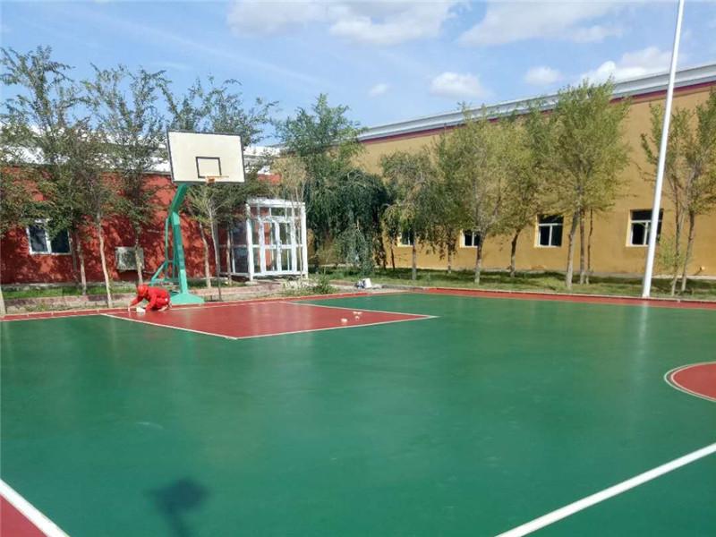 克拉玛依市 石油基地硅pu篮球场
