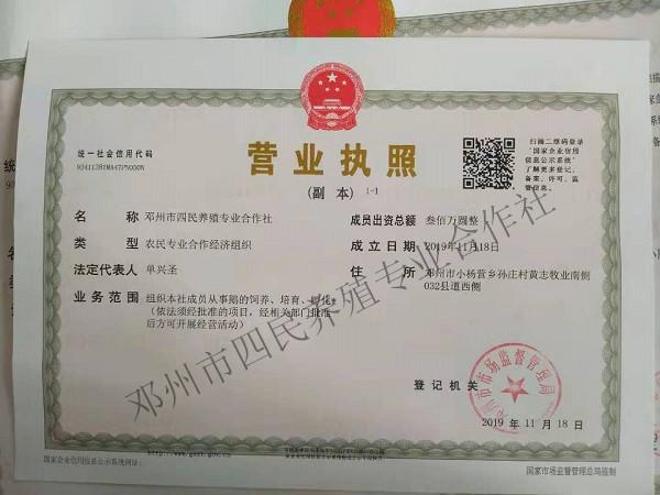 河南鹅苗孵化养殖厂家营业执照