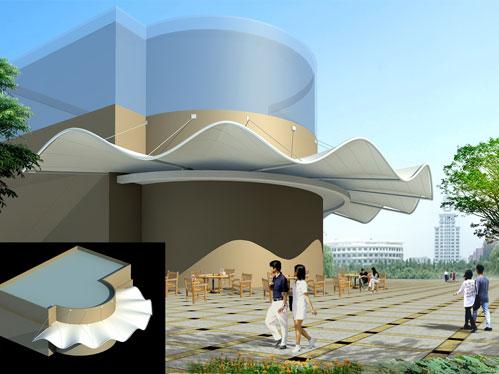 成都膜结构遮阳棚