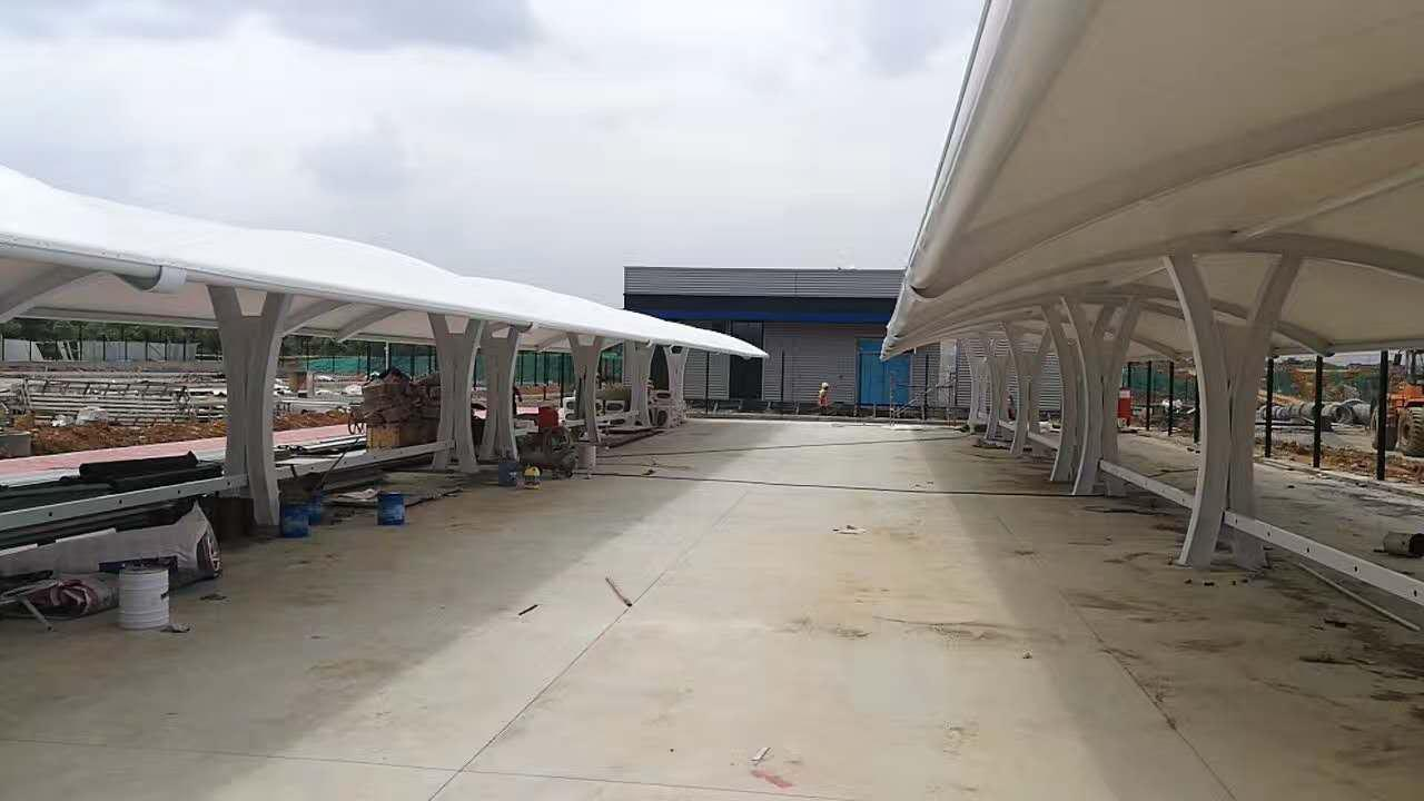 膜结构非机动车停车棚--双流保税区