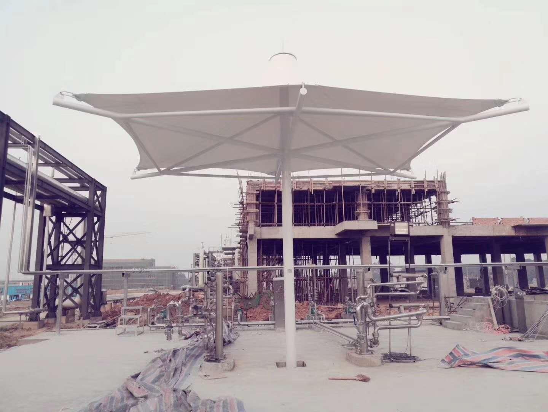 膜结构景观小件膜结构伞---新能源公司