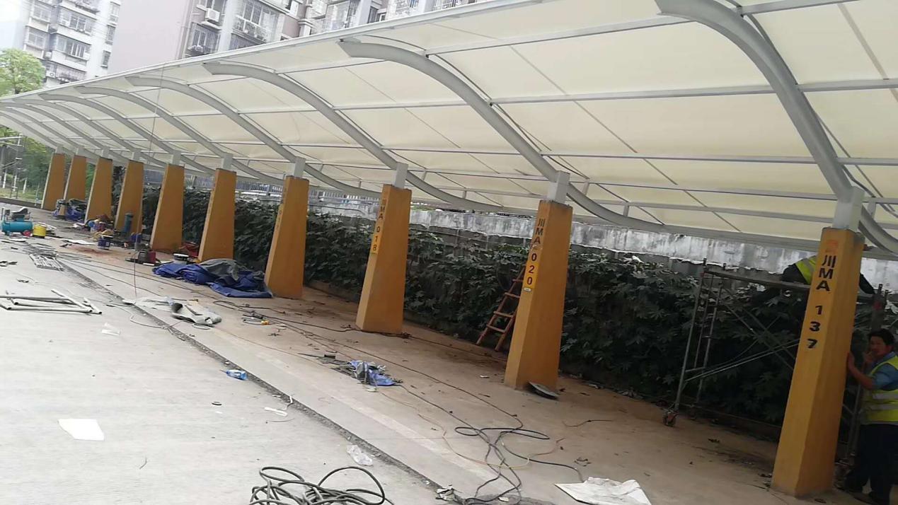 膜结构停车棚改造--资阳市人民法院