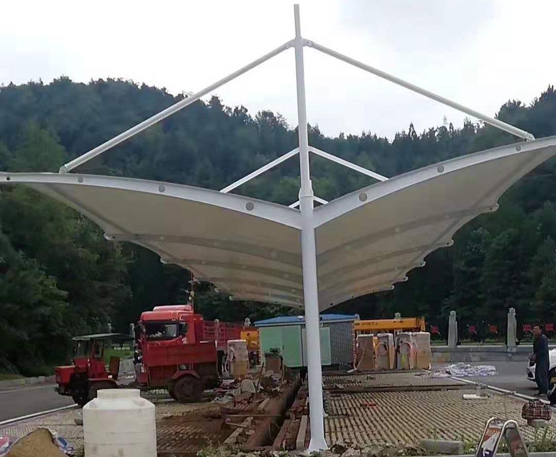 膜结构充电桩停车棚--贵州六盘水
