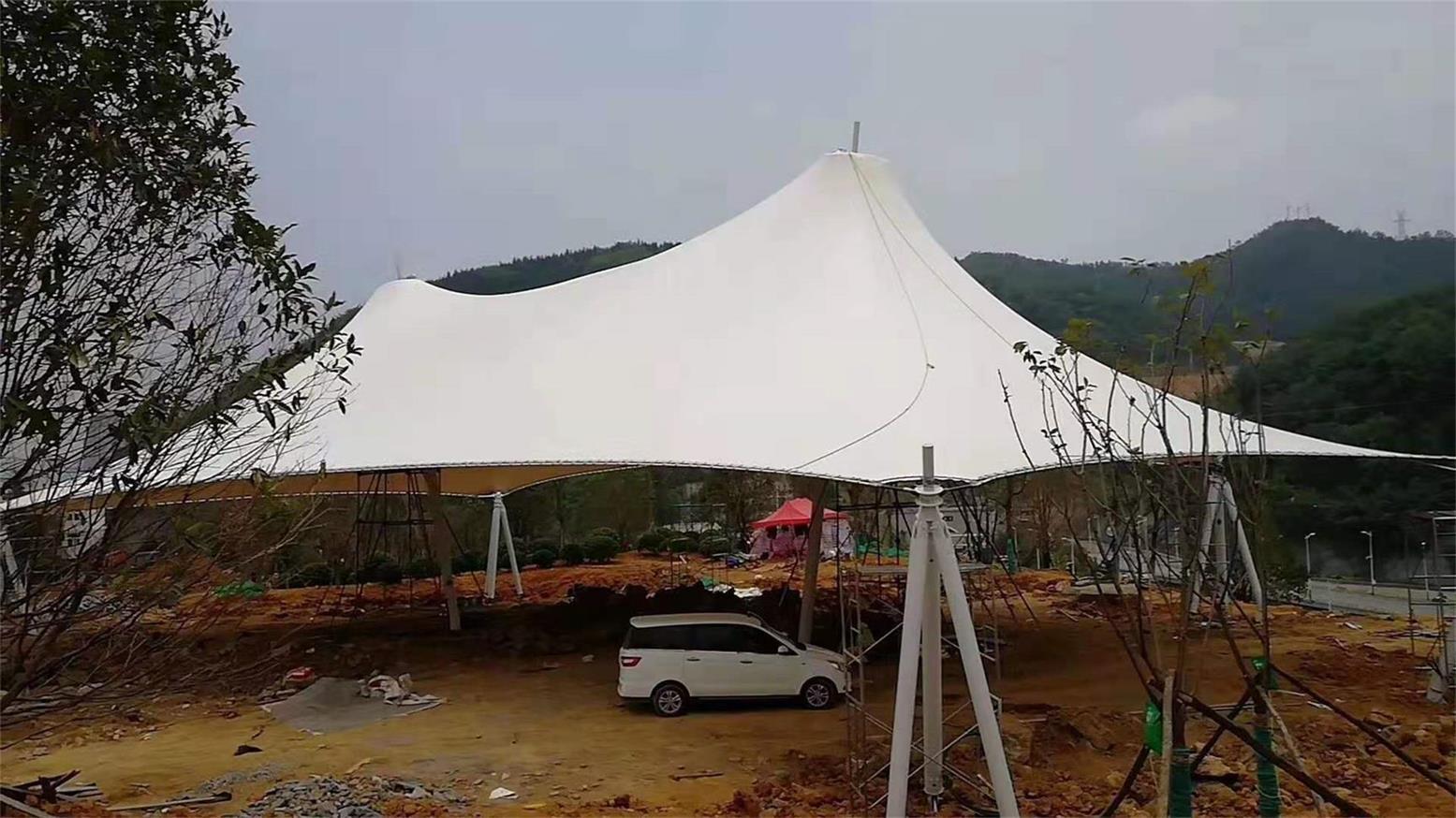 贵州毕节景观膜结构客户见证