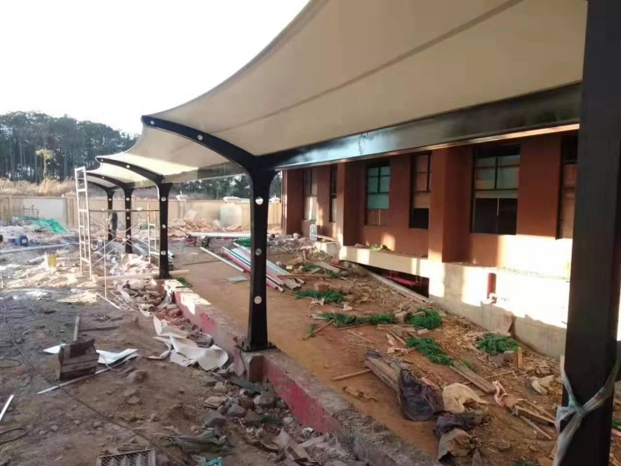 膜结地下车库出入口遮阳棚--威宁县精神病院