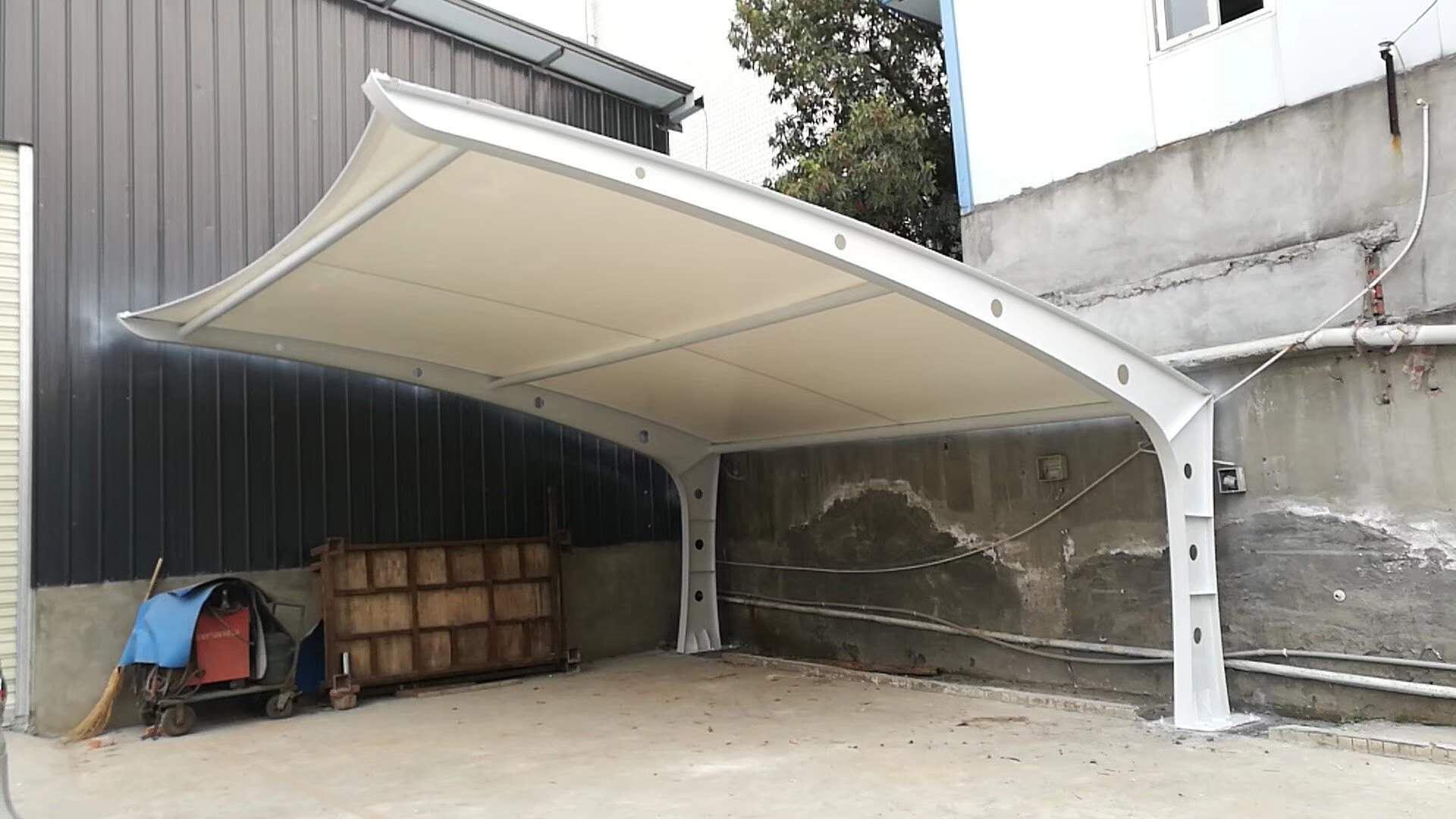四川膜结构汽车停车棚