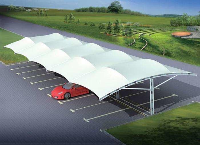 如何清洗四川膜结构停车棚?