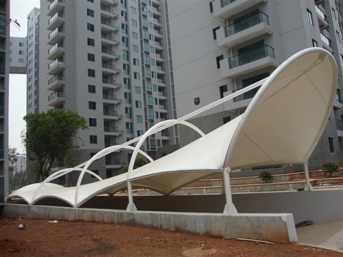 四川膜结构遮阳蓬-过道、出入口建筑系列