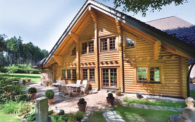 圆木住宅木屋