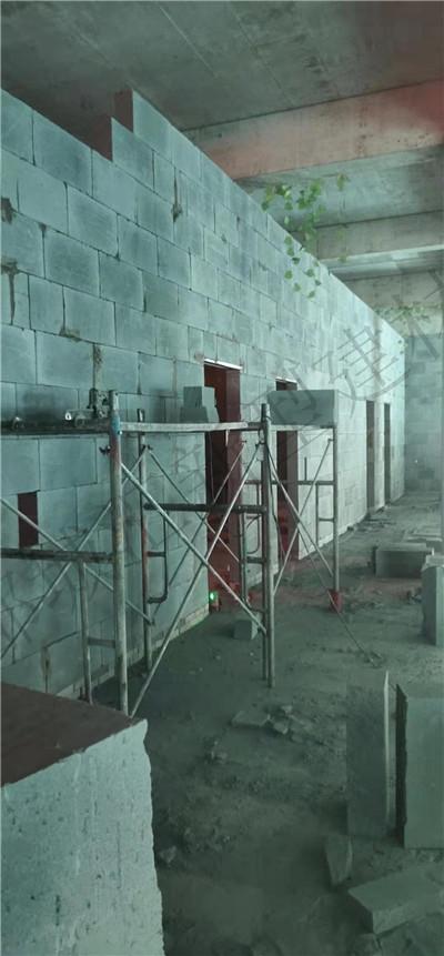 加气块隔墙施工设计