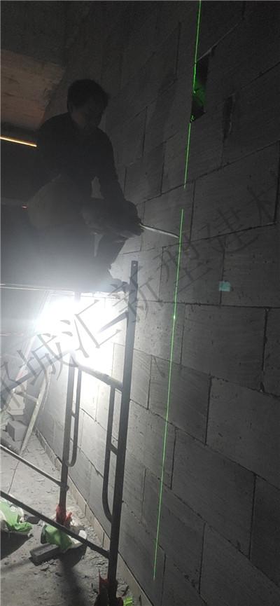 都城汇新型建材加气块隔墙施工现场
