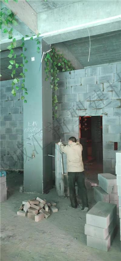 都城汇建材加气块隔墙案例2