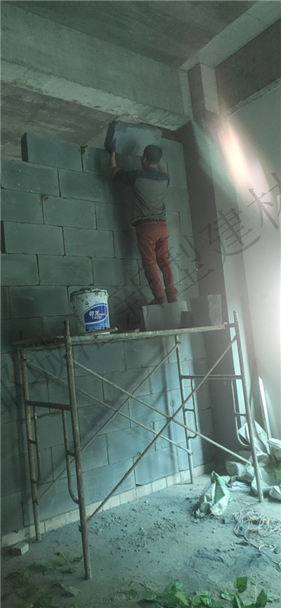 都城汇建材加气块隔墙案例