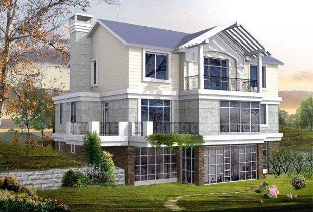 达州钢结构欧式别墅