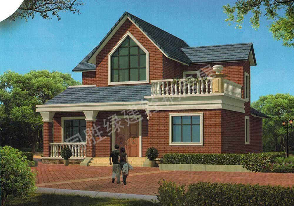 同勝綠建輕鋼別墅設計圖分享(2)-雙層別墅