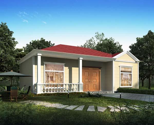 案例分享,南充蓬安一层轻钢别墅