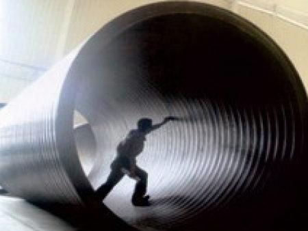 钢带增强聚乙烯(PE)双平缠绕管
