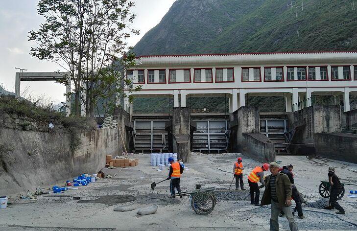 阿坝水电站环氧混凝土护滩工程案例