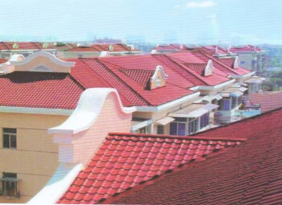 某别墅群使用双捷仿古瓦建造房屋屋顶工程案例展示