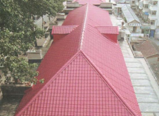 某小区使用双捷树脂瓦建造房顶工程案例展示