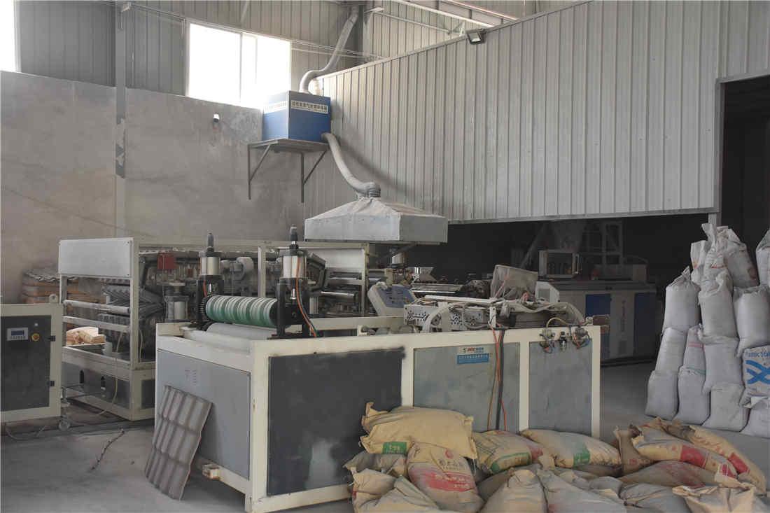 双捷树脂瓦生产车间展示