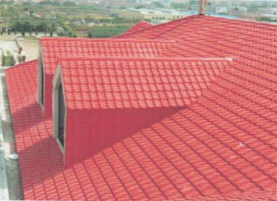 某新区建盖房屋使用双捷树脂瓦客户见证