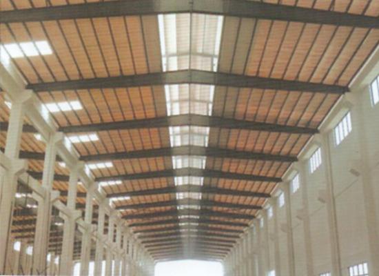 某工厂改造屋顶使用双捷透明瓦客户见证