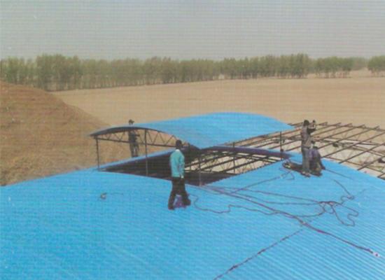 某厂区使用双捷树脂瓦建造房顶工程案例展示