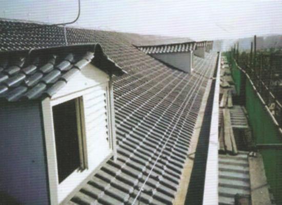 某楼盘房屋改造使用双捷仿古瓦工程案例展示