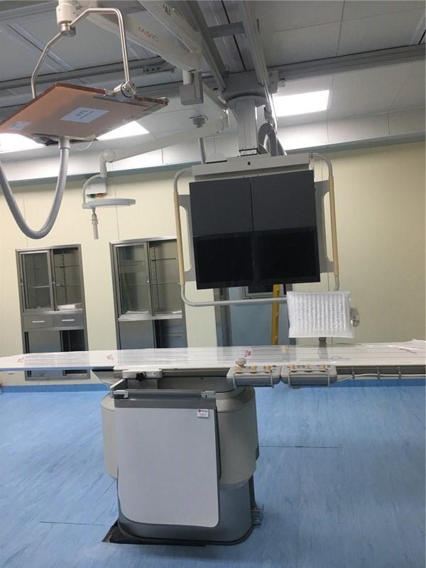 飞利浦DSA机房射线防护装饰工程 中卫市中医院DSA项目交工并装机投入使用。