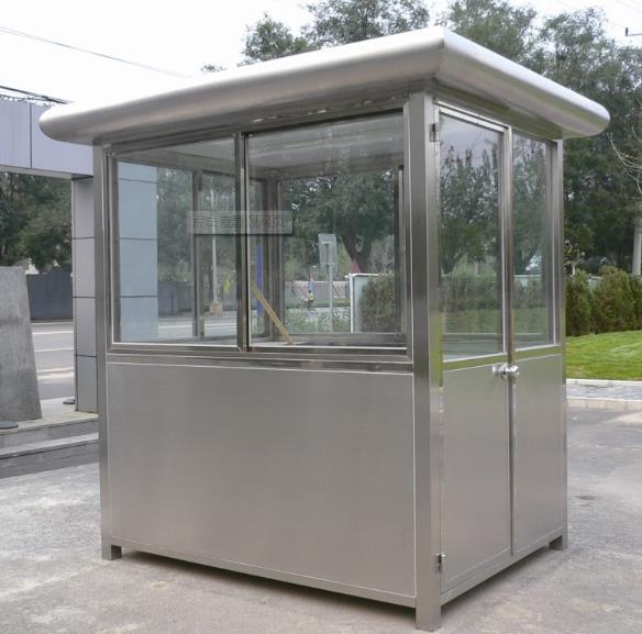 彩色不锈钢材料越来越多地应用于不锈钢岗亭的制造,不锈钢岗亭颜色怎么处理