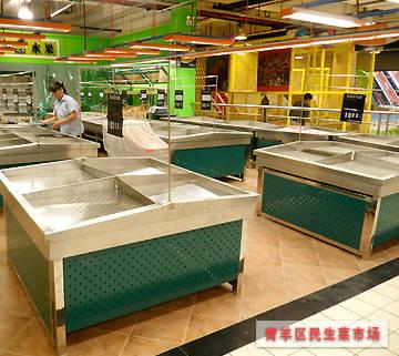 蔬菜水果货架案例-青羊区民生菜市场