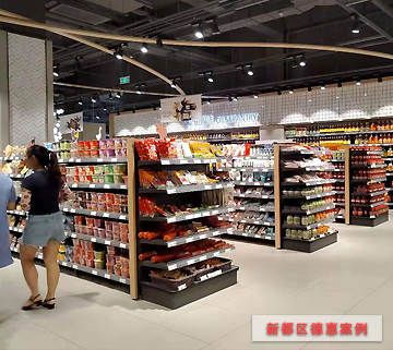 超市货架案例-新都区德惠