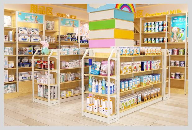 成都钢木母婴店货架