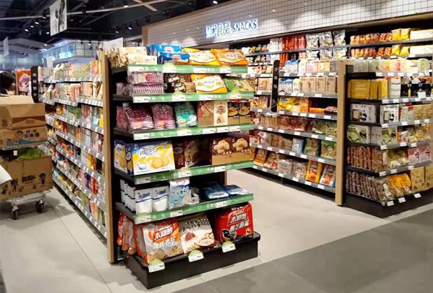 浅谈成都超市货架摆放的三种布局
