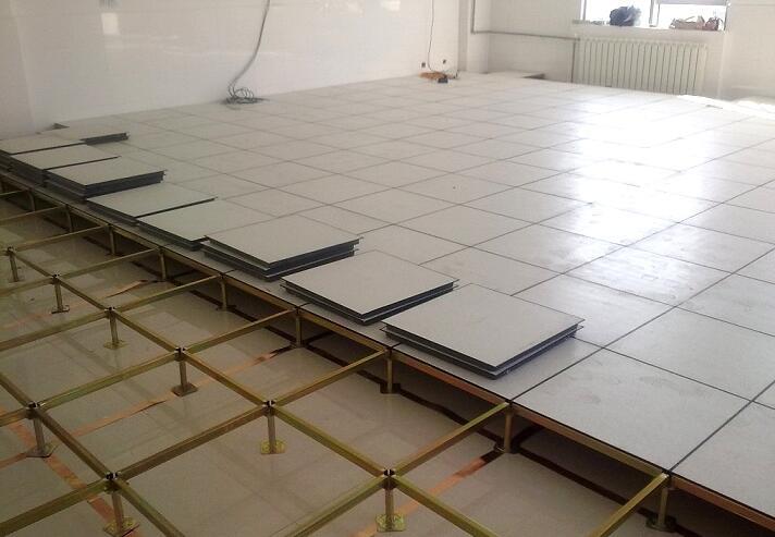 防静电地板安装现场
