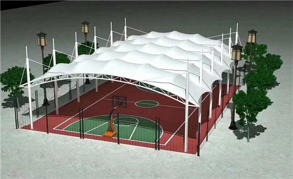 西安球场膜结构施工