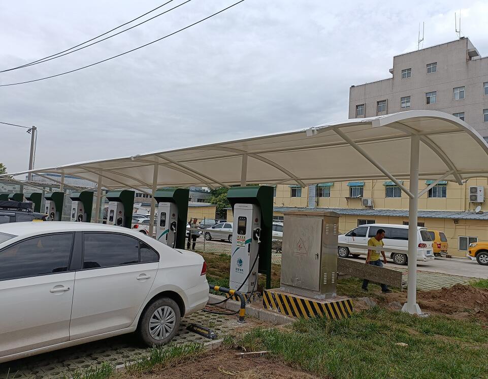 陕西电力公司国家电网--膜结构车棚