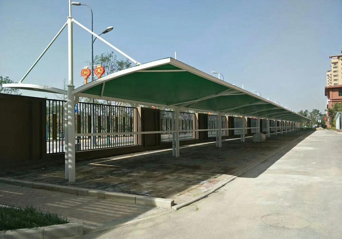 渭柳佳苑畅夏园小区膜结构车棚案例