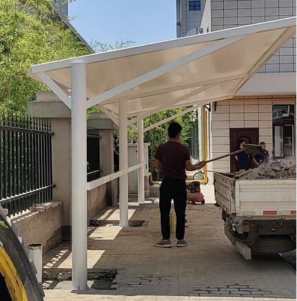 咸阳高新消防大队膜结构车棚