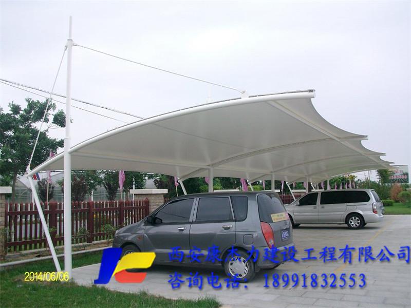 陕西膜结构车棚案例
