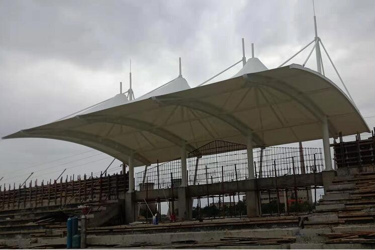 蒲城第三初级中学膜结构看台