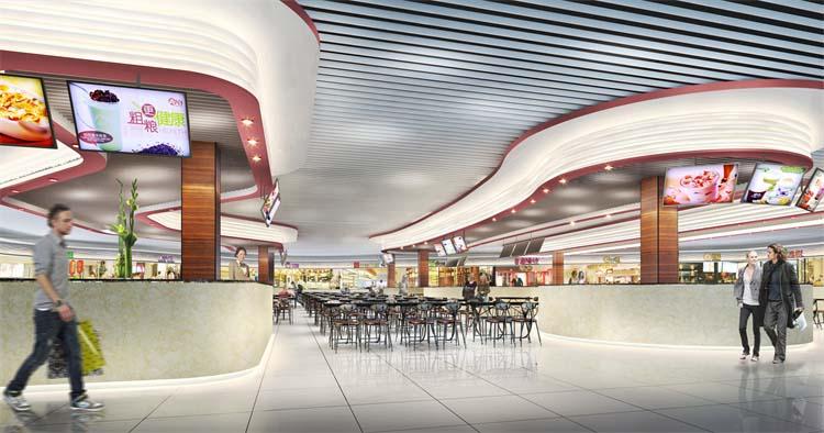 郑州美食广场设计
