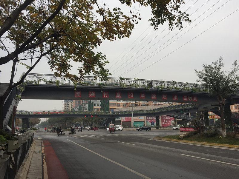 大荔东府广场钢结构人行天桥