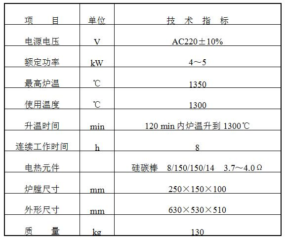 XL-2型硅碳棒高温炉使用说明