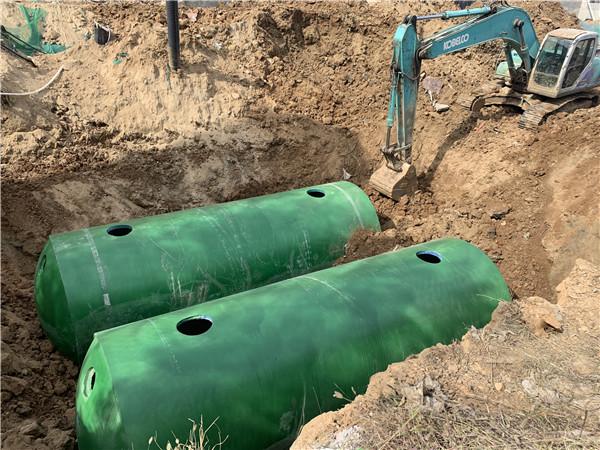 水泥整体化粪池施工
