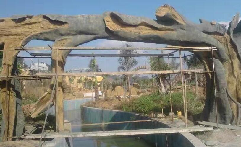 甘肃兰州景观雕塑之园林|城市景观雕塑|塑石假山|喷泉|防腐木凉亭设计制作施工要点