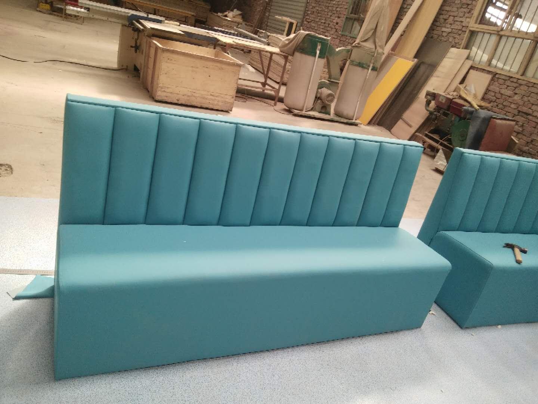 1.2米墨綠色拉雙線款快餐沙發
